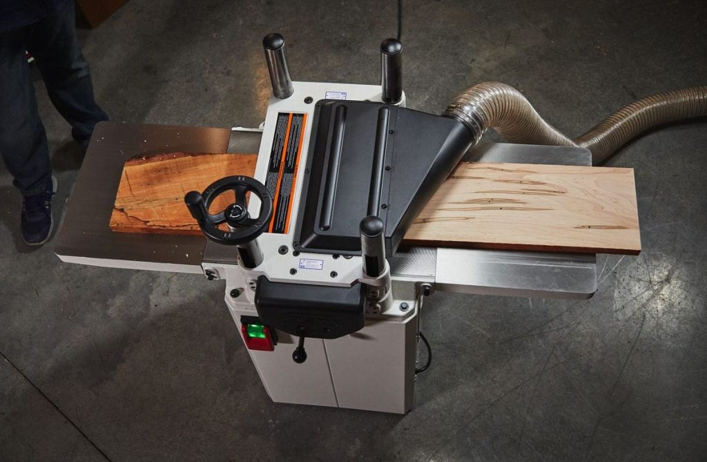 JET 15-inch planer top down view