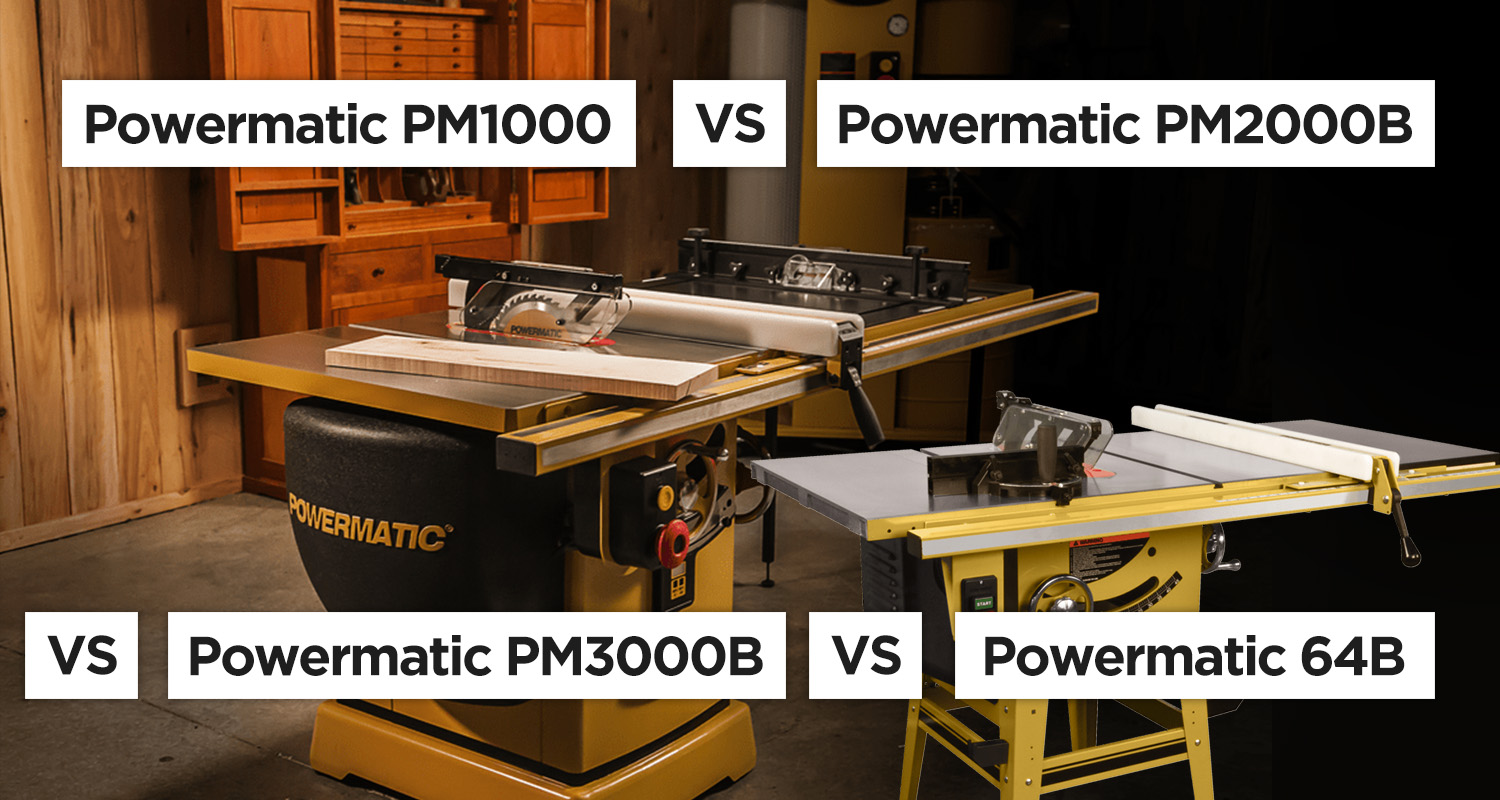 Powermatic Table Saw Guide – All models compared
