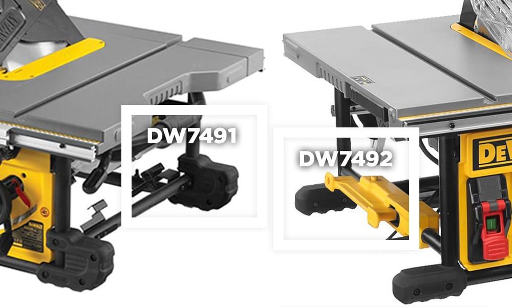 DWE7491 vs DWE7492 Feet Comparison
