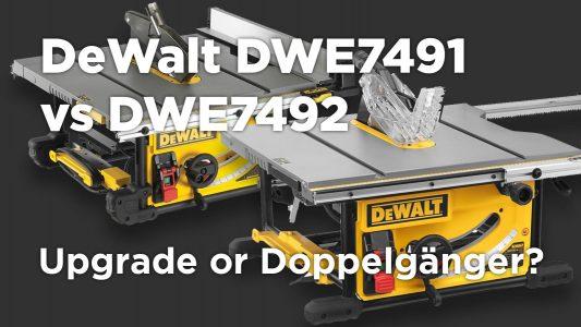 DeWalt DW7491 vs DW7492 Table Saw Comparison Differences Featured Image