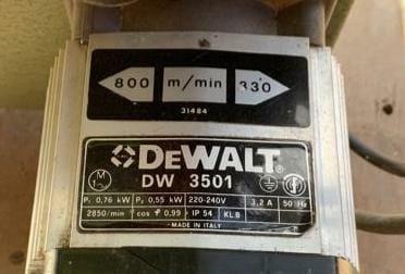 DeWalt DW3501 DW3401 Bandsaw Motor Specs