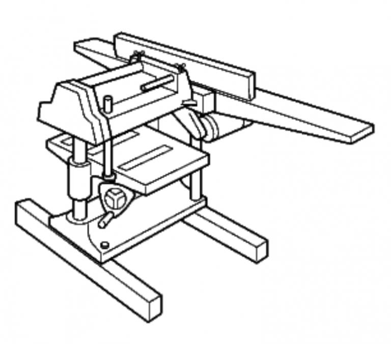 Makita 2030 Jointer Planer Drawing