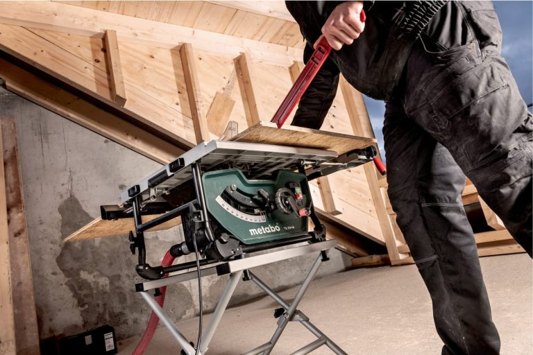 Metabo TS 254 M Table Saw in Action