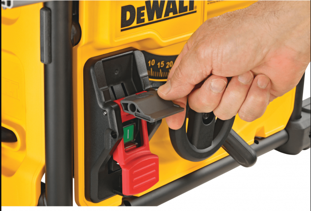 DeWalt DWE7485 Table Saw Safety Lock