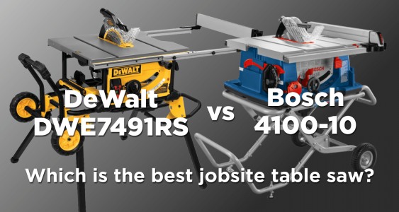 DeWalt 7491 vs Bosch 4100-10 Table Saw Featured Image